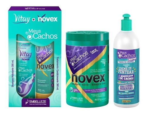 Novex Kit-tratamiento-cpp Meus Cachos - g a $33