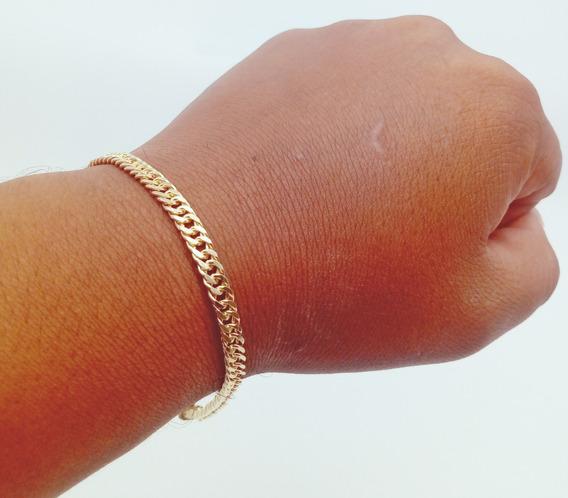 Bracelete Masculino Banhada Ouro 18k Duplix Gaveta 8g 227