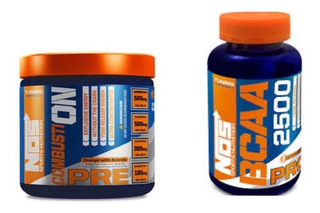 Combustion 270g + Bcaa 2500 Pro 120caps - Nos Nutrition