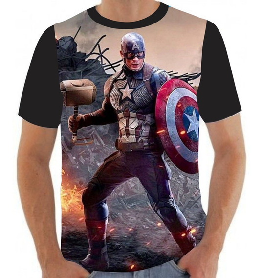 Camiseta Camisa Capitão América Martelo Thor- A60