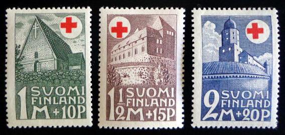 Finlandia, Serie Yv. 161-63 Cruz Roja 1931 Nueva L8545