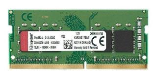 Memoria Kingston Kvr24s17s8/8, 8gb, Ddr4, So-dimm, 2400 Mhz