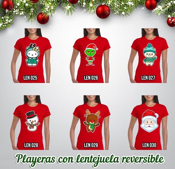 Playera Navideña Con Lentejuela Reversible