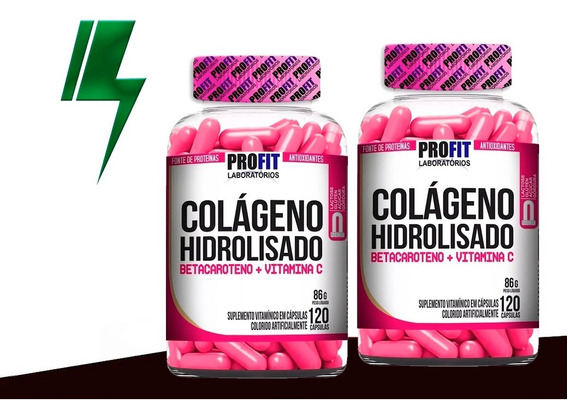 Combo 2x Colágeno Hidrolisado - 120 Cápsulas - Profit Labs