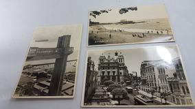 3 Antigo Postal Bahia Com Zeppelin Raros