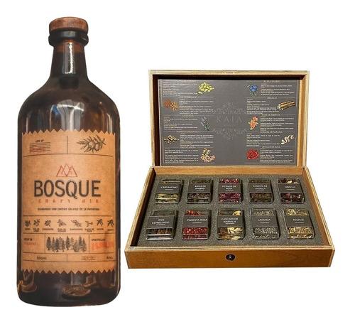 Gin Bosque Craft + Estuche Mixologia Botanica Gin Kaia X 10