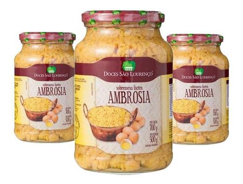Ambrosia São Lourenço 700g 3 Unidades