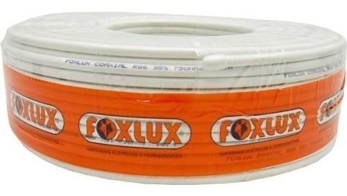 Fio Antena Coaxial Sky Rg6 95% 100m Foxlux