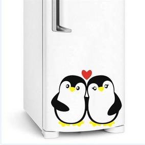 Adesivo Geladeira Pinguim Casal