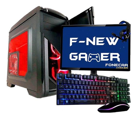 Pc Gamer Completo I5 8gb Hd 1tb R5 230 Hdmi Wifi C/ Monitor