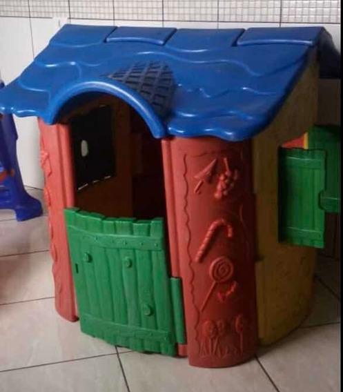 Playground Usado Casinha Infantil Linda P/retirar Cotia Sp