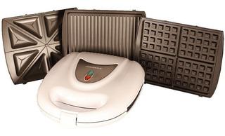 Waflera Sandwichera Profesional Coolbrand - 3 En 1 - 1400w