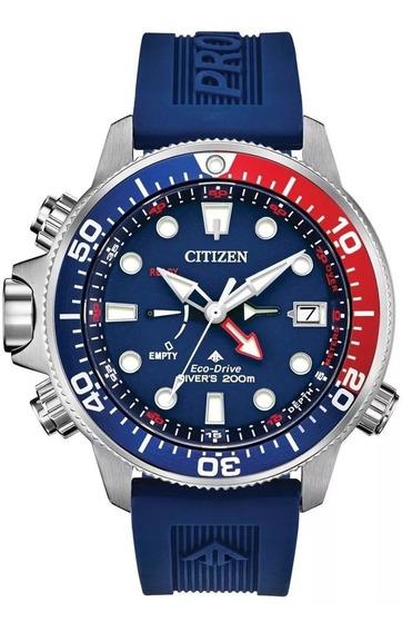 Relogio Citizen Eco-drive Promaster Aqualand Blue Red