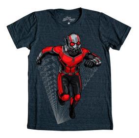 Playera Hombre Ant-man Scott Lang Marvel Máscara De Látex