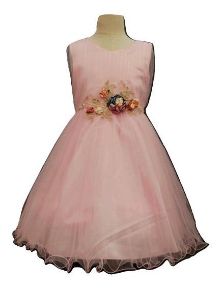 Vestido Importado Nena De Tull Para Comunión Fiesta Eventos Talle4a18