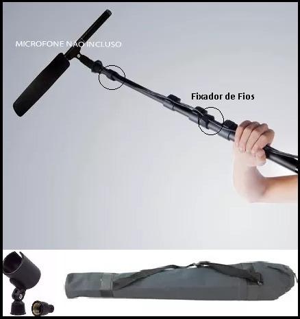 Vara De Boom-pole Para Microfone Shotgun Filmadora Coral
