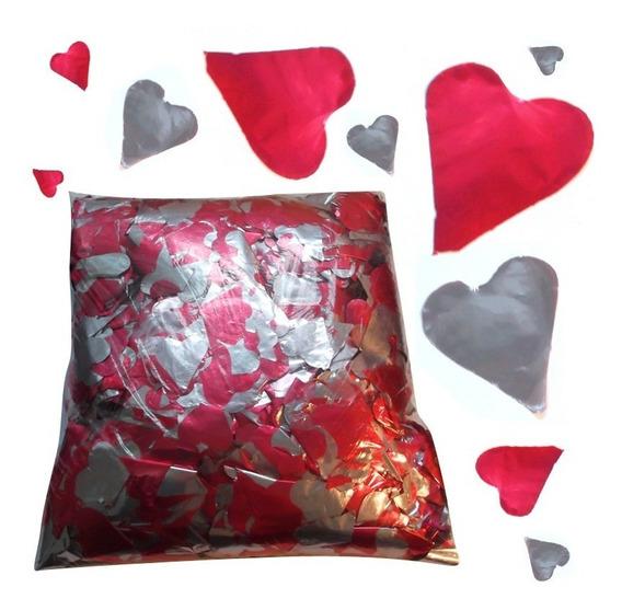 1 Kg De Papel Picado - Forma De Coração Vermelho - Sky Paper