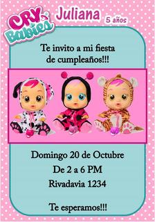Invitacion Digital Cry Babies Cry Bebes Para Redes Sociales