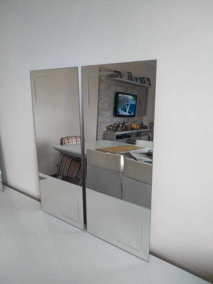 Espelho Decorativo De Vidro Lmc 65x30 Cm 2 Peças