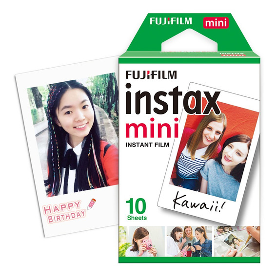 Fujifilm Instax Mini 10 Folhas Papel Fotográfico Branco