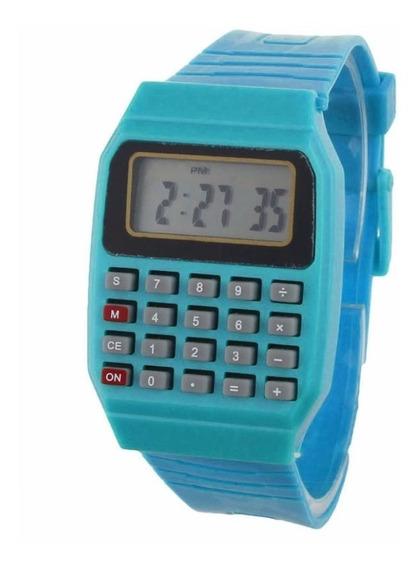 Relógio Calculadora Digital Unissex