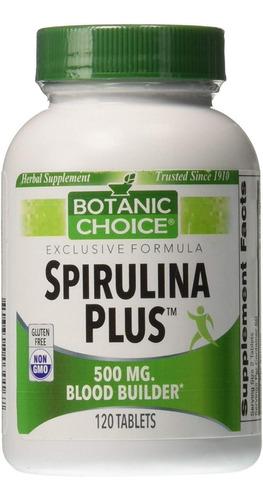 Imagen 1 de 3 de Spirulina Plus 500mg, 120 Tabletas, I - Unidad a $1
