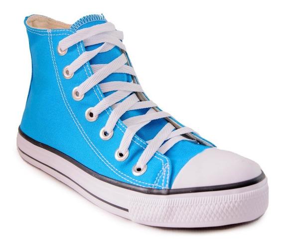 Tênis Converse Allstar Cano Alto Azul Turquesa Infantil