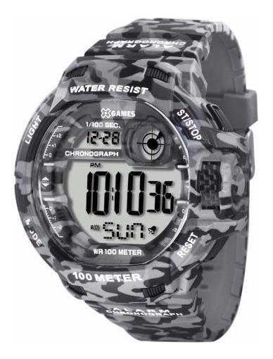 Relógio X-games Masculino Camuflado Xmppd288 Mais Vendido