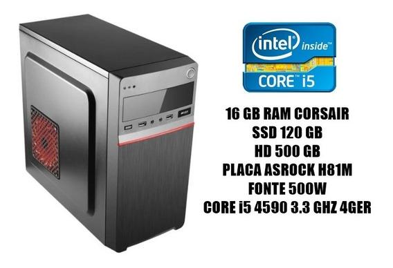 Cpu Workstation Core I5 4ger / 16gb Ram/1tb Hd/ Ssd 120gb