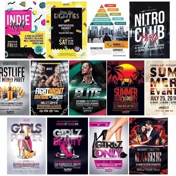 Cartaz Flays Em Psd Editável Ballada Shows Festas Eventos