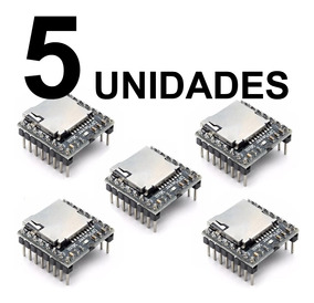 5x Modulo Mp3 Player Dfplayer Mini P/ Arduino
