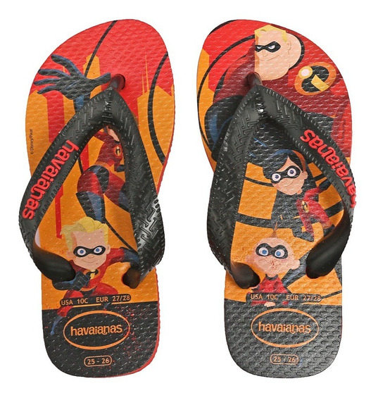 Sandálias Havaianas Kids Top Incrivéis Morango 4141518-2162