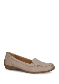 Zapatos Flat Mocasin Beige Dr Scholls Dama Piel Udt J14239