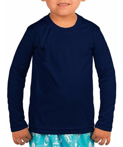 Kit 2 Camisa Infantil Térmica Manga Longa Proteção Uv