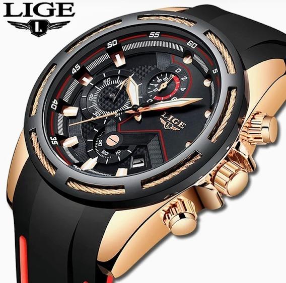 Relógio Masculino Lige 9957 Luxo Esportivo Original-promoção