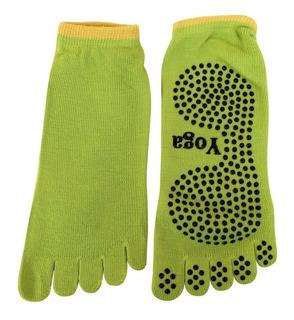 Calcetines Para Yoga Cinco Dedos, Antidezlizante Color Verde