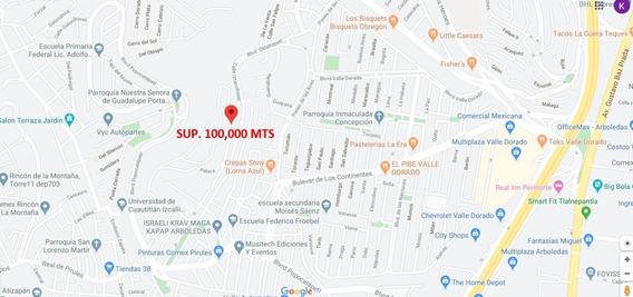 Terreno Hab Hacienda De Mayorazgos, Atizapan Sup 100,000 Mts