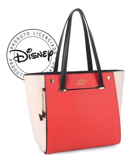 Bolsa De Ombro Mickey Mouse Capa Removível - Original Disney