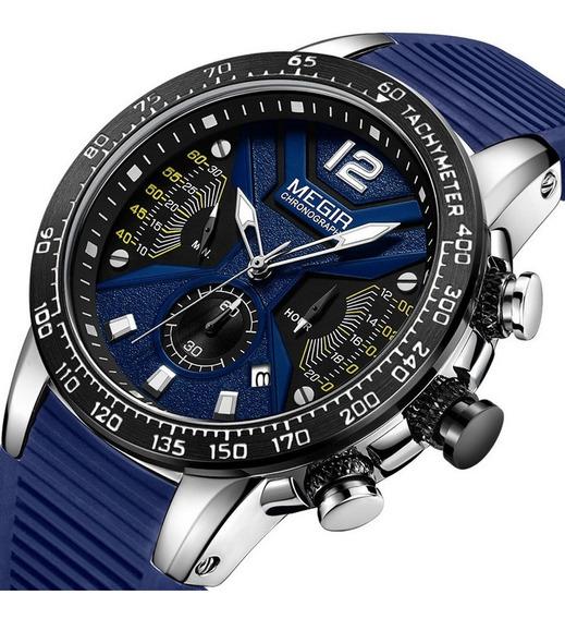 Megir Mens Relógio Multifuncional Cronometragem Sports 2106g