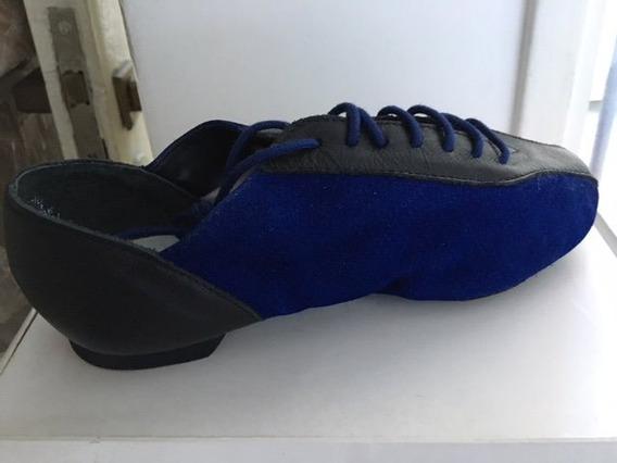 Zapatillas Jazz Capezio Strike Jazz Blue Talle 34,5 Danza