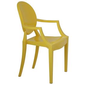 Cadeira Com Braço Ghost Amarela
