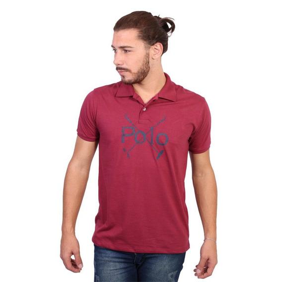 Camisa Polo England Polo Club Estampada Polos Vinho
