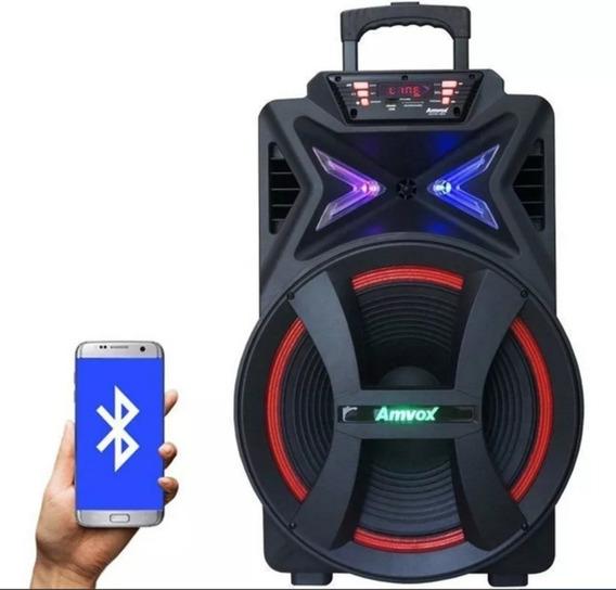 Caixa Som Bluetooth 5000w Potente Amplificada Amvox