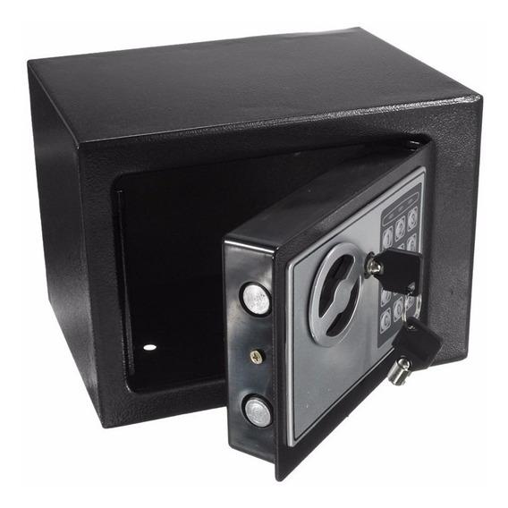 Cofre Eletrônico Digital Pequeno Em Aço Com Chave Segurança