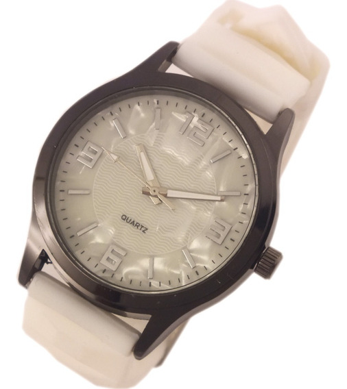 Relógio Feminino Quartz Com Pulseira Branca Borracha B5628
