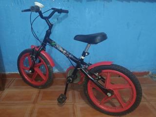 Bicicleta Inf Aro 16 Verden Rock - Pr/verm. (são Paulo Zl)