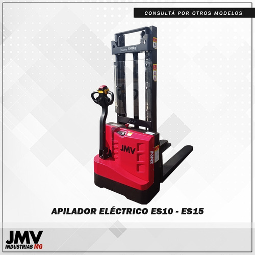 Apilador Eléctrico Jmv Es15 - 1500kg 3 Mts