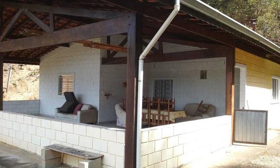 Chácara - Casa Mobiliada Com Varanda E Fogão À Lenha