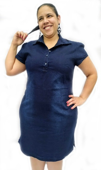 Vestido Jeans Plus Size Curto Moda Evangélica Tam 46 Ao 54