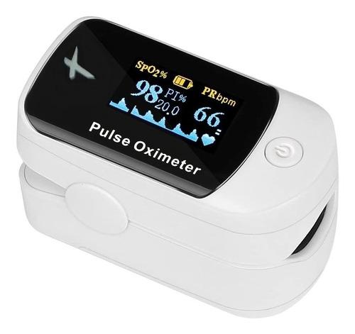 Oximetro De Pulso Saturometro Digital Para Dedo Con Curva